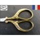 Ciseaux de Nogent doré or fin 24 carats